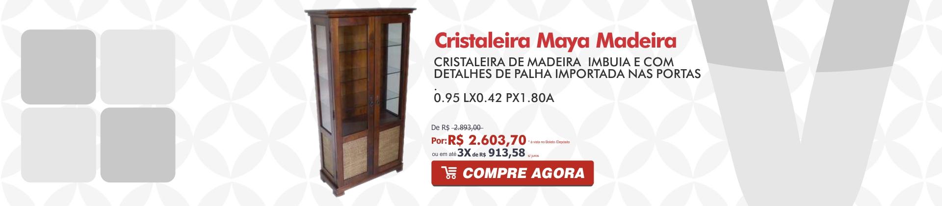 Cristaleira Maya Madeira