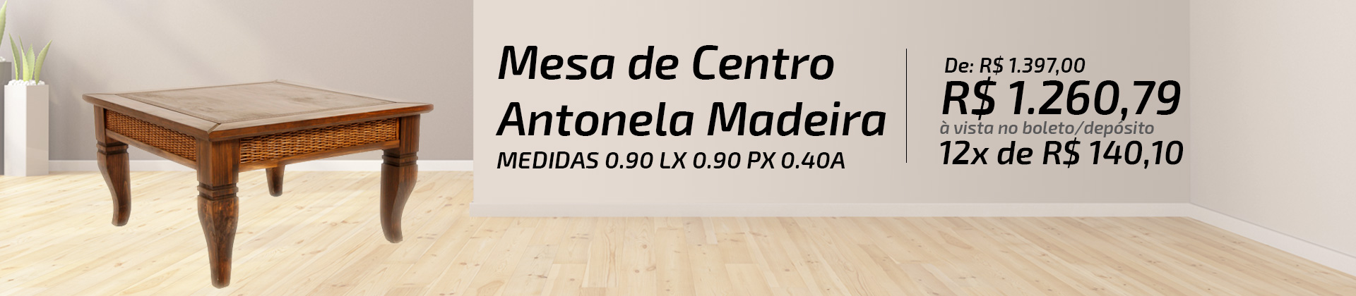 MESA DE CENTRO ANTONELA MADEIRA