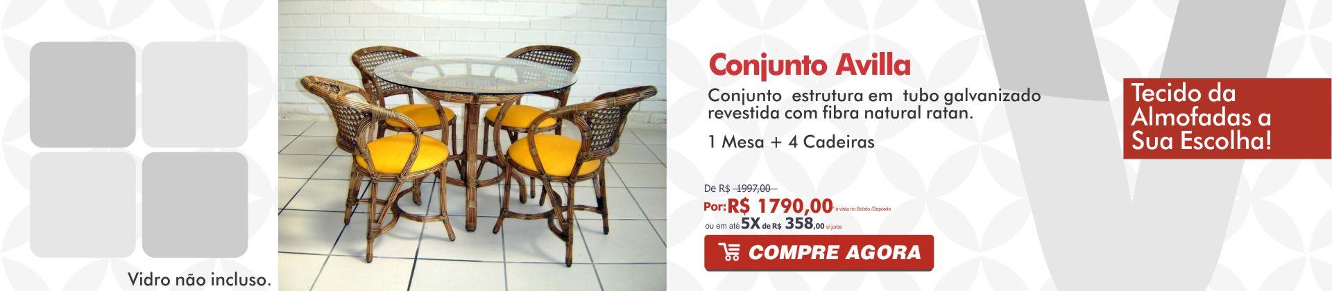 Conjunto mesa e cadeira de fibra